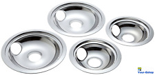 Drip Bowl Pans Set Electric Stove Burner Range Parts For GE Hotpoint Universal