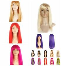 Ladies Wigs Costume Long Straight Full Hair Wig Cosplay Party Anime Women Wig