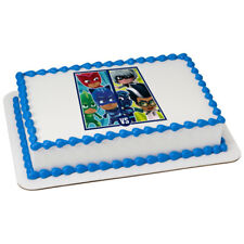 PJ Masks Superhero vs Villains Edible Cake OR Cupcake Toppers Decorations