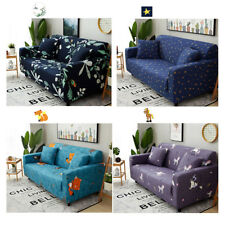 1PC Pastoral Style Polyester Couch Cushions Sofa Cover Flowers Slipcover Cloth