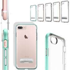 Crystal Clear Silicone Bumper Kickstand Case Cover With Stand For iPhone 7 Plus