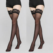 Women's Ultra-thin Ladies Tights Stay Up Thigh High Stockings Lace Top Pantyhose