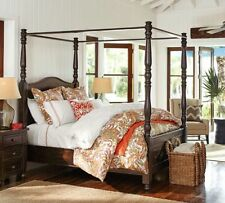 Cortona Queen Solid Wood Canopy Bed Color Alfresco Brown New By Pottery Barn