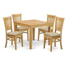 5-piece Oak Square Kitchen Table and Chairs Set