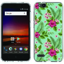 for ZTE Blade Vantage/Avid 4(Hibiscus Bouquet)Clear gel skin phone case cover