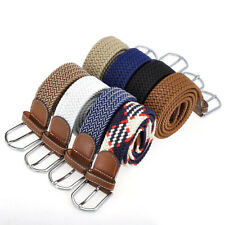 Mens Army Style Pin Buckle Military Sport Web Canvas Belts Leather 8 Color Cool