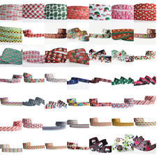 "1/5/50/100 yards 7/8"" 22mm Mixed Printed grosgrain ribbon hairbow Wholesale DIY"