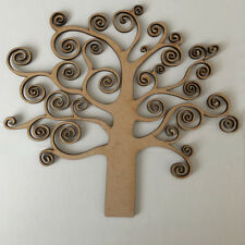 MDF Family Autum Tree -  Free Hearts,Scroll & Family Word,Wood Craft Shape Blank