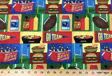 FOOTBALL Fabric Sports Tailgate Fabric Hamburger Grill Beverage Cotton Fabric