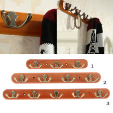 Wall-Mounted Clothes Rail with Dual Hooks Wall Coat Rack Robe Hook Towel Hanger