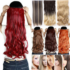Long Curly/Wavy/Straight Clip in Ombre Hair Extensions Extension Real Thick TN7
