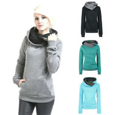Womens Long Sleeve Top Sweatshirt Ladies New Hoody Plain Hoodies
