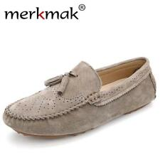 New 2017 Men Casual Suede Loafers Genuine Leather Spring Autumn Driving Shoes Mo