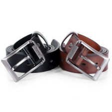 Mens Leather Single Prong Belt Business Casual Dress Metal Buckle Belts Gifts