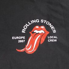 Rolling Stones Europe 2007 Local Crew Forked Tongue XL Black T-Shirt
