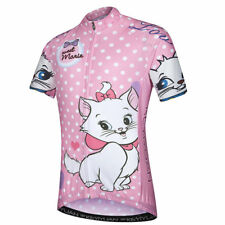 Pink Girls Cycling Jersey Kids Bike Clothing Bicycle Cycle Jersey Top Reflective