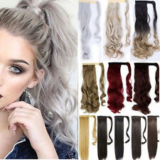 Ombre Pony Tail Hair Extensions 140g Long Curly Clip In Hair Extension Ponytail