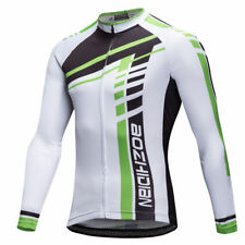 Men's Vintage Cycling Jersey Long Sleeve Bike Bicycle Jersey Shirts White S-5XL