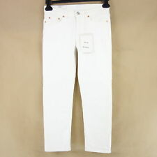 Acne Studios Women's Jeans Trousers W25 W30 Row White Vintage Cropped NP 200