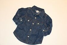Baby Gap Boy Blue Denim Western Shirt NwT 3 - 6 6-12 12-18 mos