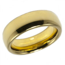 Gold Plain Band 6mm Dome Tungsten Comfort Fit Ion Plated Wedding Ring