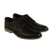 Steve Madden Lanister Mens Brown Leather Casual Dress Lace Up Oxfords Shoes