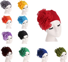 Muslim Women Flower Hat Turban Elastic Chemo Hair Loss Cap Cancer Headscarf Wrap