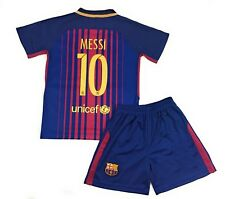 Barcelona #10 Lionel MESSI Home Away Kids Soccer Jersey Shorts Youth Sizes
