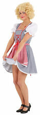 Sexy Dirndl Tyra BLUE-RED NEW - Ladies Carnival Fancy Dress