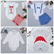 Newborn Baby Boy Infant Outfits Jumpsuit Romper Bodysuit Suit Clothes Outfit