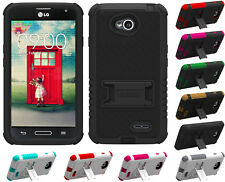 NEW RUGGED TRI-SHIELD CASE STAND SCREEN PROTECTOR FOR LG OPTIMUS L70 MS323 PHONE