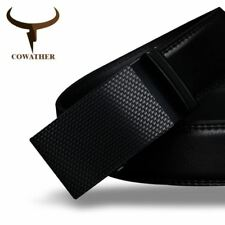 COWATHER Mens belt luxury high quality cow genuine leather belt men automatic