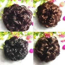 Women's Wavy Curly Pony Tail Hair Bun Clip in Scrunchie Hair Extension Hairpiece