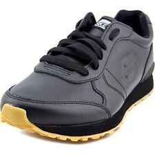 Skechers Mens Og 85 Aitkin Black Leather Athletic Lace Up Running Shoes 52341BBK