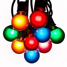 G40 Assorted Satin Outdoor Patio Globe String Lights (100', 50' and 25' Lengths)