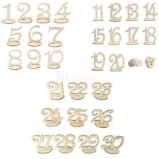 10pcs/Set Wood Table Numbers 1-30 Freestand Wedding Table Centerpiece Decoration