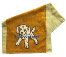New  Personalized Embroidered Puppy Theme Baby Boy Burp Cloth