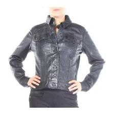 True Religion Jackets Dusty Lined Western Fitted Leather Women Black New