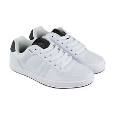 Osiris Relic Mens White Leather Lace Up Lace Up Sneakers Shoes