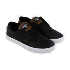 Osiris Slappy Vlc Mens Black Leather Lace Up Lace Up Sneakers Shoes