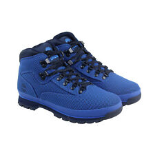 Timberland Euro Hiker Mens Blue Textile Hiking Lace Up Boots Shoes
