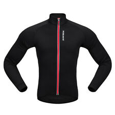 Cycling Coat Bike Jersey Long Sleeve Windproof Long Jersey Camping Black Red