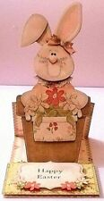 Handmade Greeting Card & Matching Envelope 3D Easel All Occasion With A Bunny