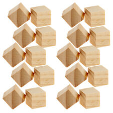20pcs Wood Unfinished Wooden Blocks Wood Pieces Handcrafted Crafts Carving