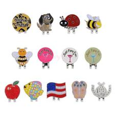 Portable Alloy Golf Ball Marker w/ Magnetic Golf Hat Clip Assorted Patterns