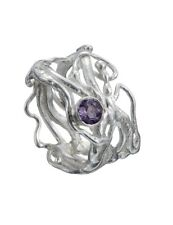 New Celtic Knot Ring Sterling Silver & Amethyst Irish Made Barry Doyle Design