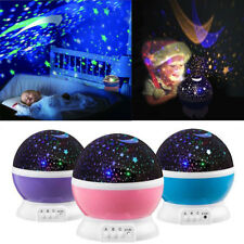 Romantic LED Rotation Starry Night Sky Projector Lamp Star light Cosmos Fairy HL