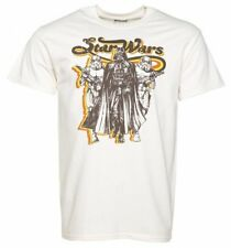 Official Men's Ecru Retro Star Wars Darth Vader And Stormtroopers T-Shirt