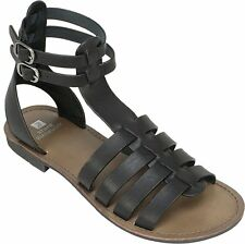White Mountain Womens carson Leather Open Toe Casual Gladiator Sandals