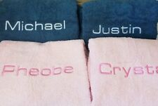 Personalised Embroidered / Monogrammed Bath Towel With Name